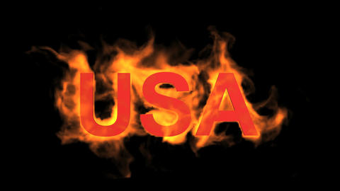 flame USA word Stock Video Footage