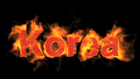 flame korea word Stock Video Footage