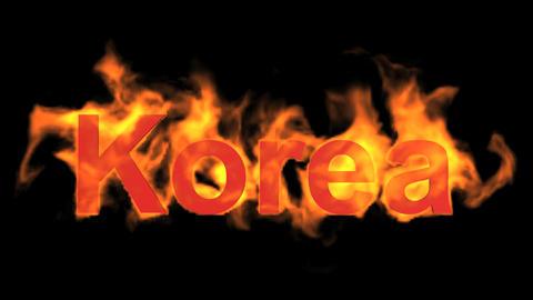 flame korea word Animation