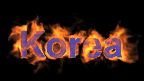 flame korea word Stock Video Footage