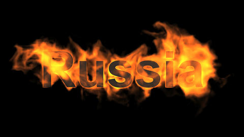 flame Russia word Animation