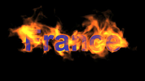 flame France word Animation