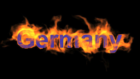 flame Germany word Animation