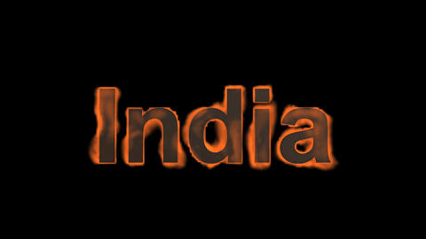 flame India word Stock Video Footage