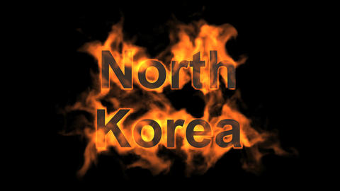 flame north korea word Stock Video Footage