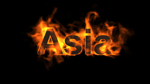 flame Asia word Stock Video Footage