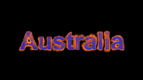 flame Australia word Stock Video Footage