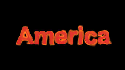 flame America word Stock Video Footage