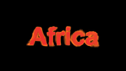 flame Africa word Stock Video Footage