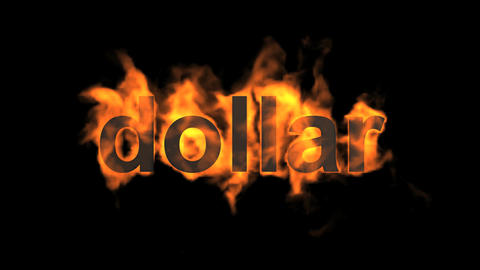 fire dollar text Stock Video Footage
