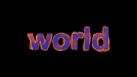 flame world word Stock Video Footage
