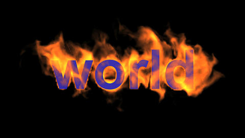 flame world word Animation