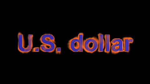 fire U.S. dollar text Stock Video Footage