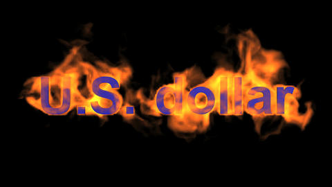fire U.S. dollar text Stock Video Footage