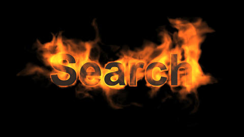 flame search word Animation