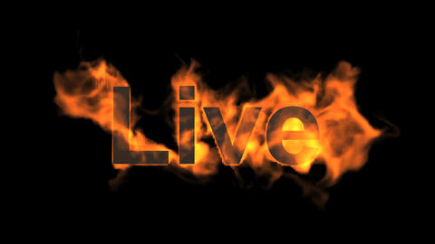 flame live word Animation
