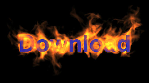 flame download word Stock Video Footage