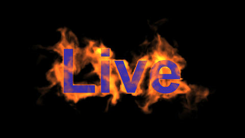 flame live word Stock Video Footage