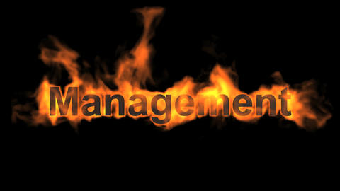 flame management word Stock Video Footage