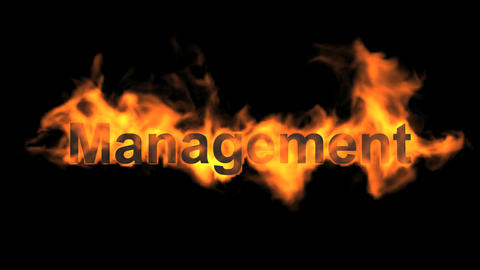 flame management word Animation