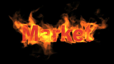 flame market word Stock Video Footage