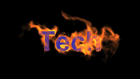 flame tech word Animation