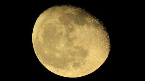 moon on the night the dark sky Footage