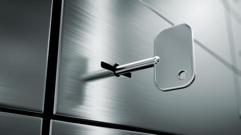 opening safety deposit box Animation
