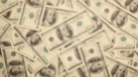 Money, Lots of hundred dollar bills Stock Video Footage