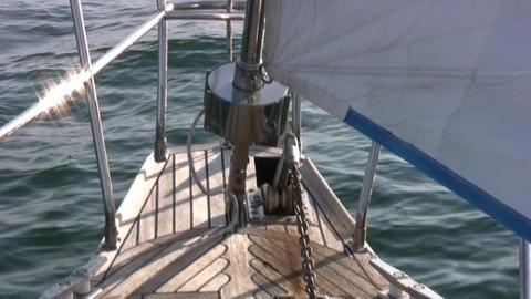 Staysail, sea Stock Video Footage