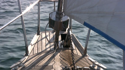 Staysail, sea Stock Video Footage