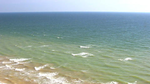 Surf and sea to the horizon Stock Video Footage