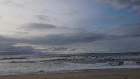 Timelapse shot of a beach Stock Video Footage