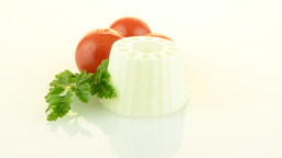 Fresh white cheese Stock Video Footage