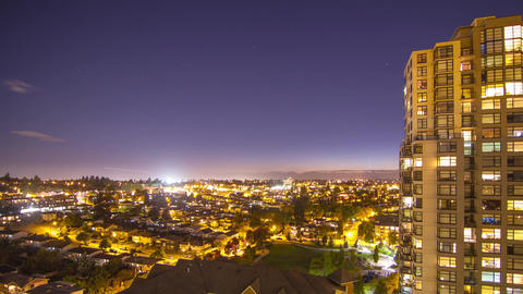Time Lapse of Lighten Up the city in a Residential Stock Video Footage