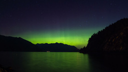 2 Shots Time Lapse of Aurora (Northern Lights) Stock Video Footage