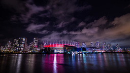 Time Lapse of BC Place Stadium locate in the heart Stock Video Footage