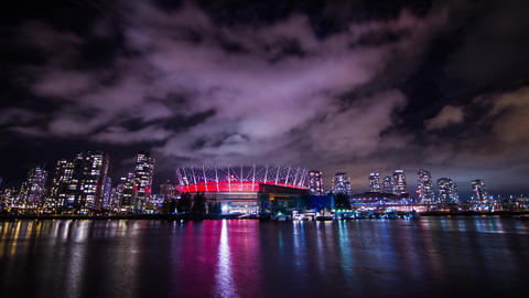 Time Lapse of BC Place Stadium locate in the heart Footage