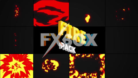 Cartoon Fire Pack After Effects Template