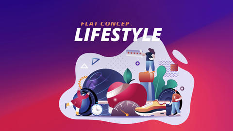 Lifestyle - Flat Concept After Effects Template