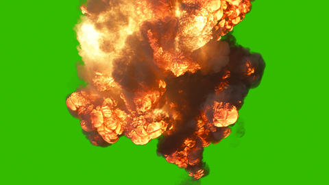 A giant explosion with a lot of smoke. A huge explosion with thick smoke. Explosion with smoke in Animation
