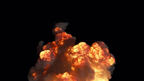 A powerful explosion with a lot of smoke. A huge explosion with thick smoke. Explosion with smoke on Animation