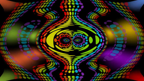 Psychedelic multicolored lights moving on black background and creating patterns Animation