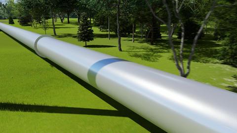 Metal pipeline gas gasoline oil diesel industry concept Animation