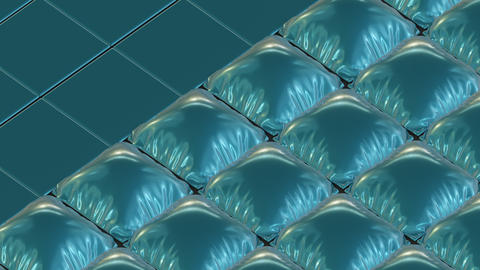 Abstract Backdrop With Inflating Pillows Animation