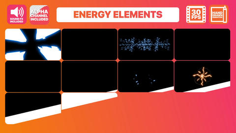 Electric Energy Elements After Effects Template