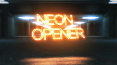 Cinematic Neon Opener After Effects Template