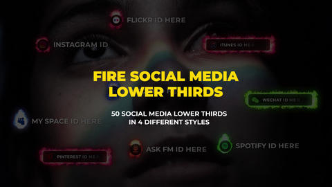 Fire Social Media Lower Thirds After Effects Template