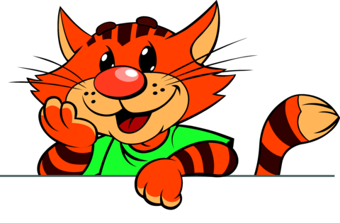 Cartoon Red Striped Cat 1