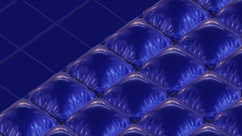 Abstract Backdrop With Inflating Blue Pillows Animation